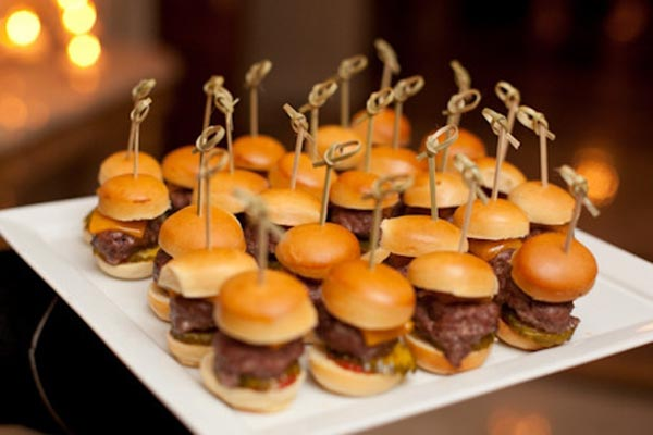 party wedding food snack midnight mini drink birthday foods menu burgers snacks winter reception fun 90th cocktail simple weddings night