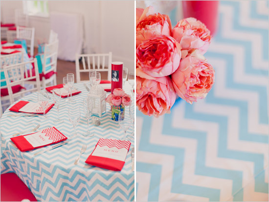 Wedding Colors - Aqua and Cherry Red
