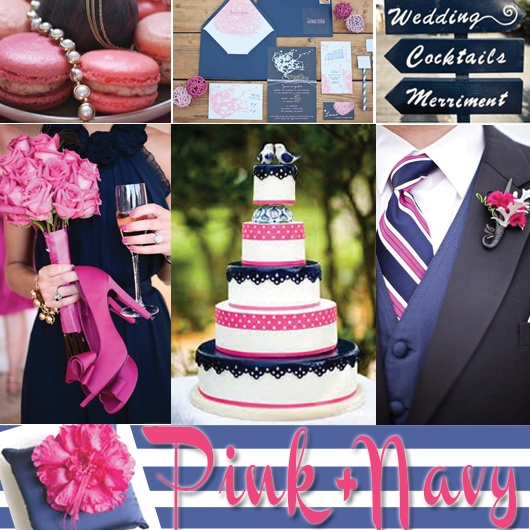Wedding Colors - Pink and Blue