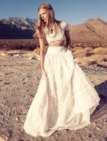 Alternative wedding dresses by the westwood for Crop top wedding dress