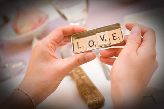 Do it yourself (DIY) Wedding Favor - Scrabble Pieces