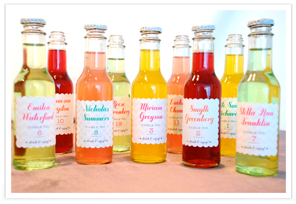 Do it yourself (DIY) Wedding Favor - Soda Pop Bottles