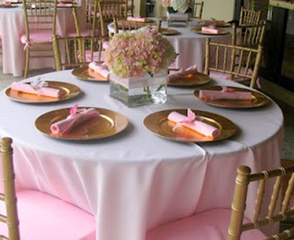 First Communion Table Setting