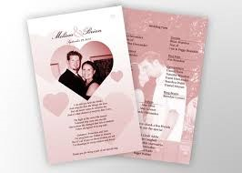 how to make wedding programs helom digitalsite co